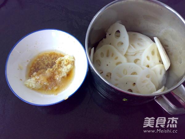 香蒜拌莲藕的简单做法
