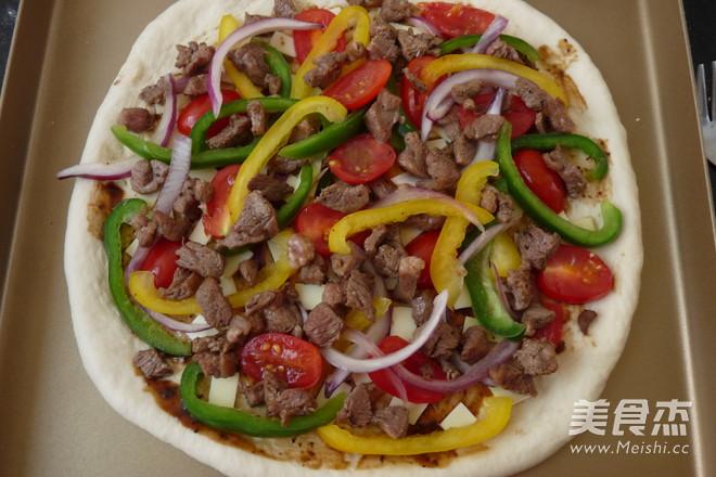 黑椒羊肉披萨怎么做