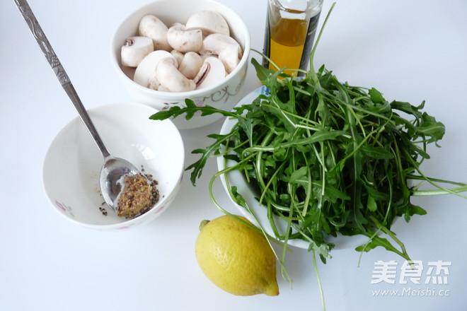 芝麻菜温拌蘑菇的做法大全