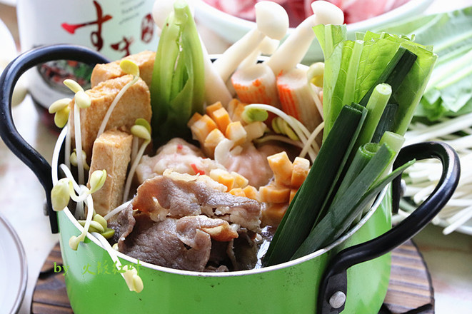 寿喜日式火锅怎么炒