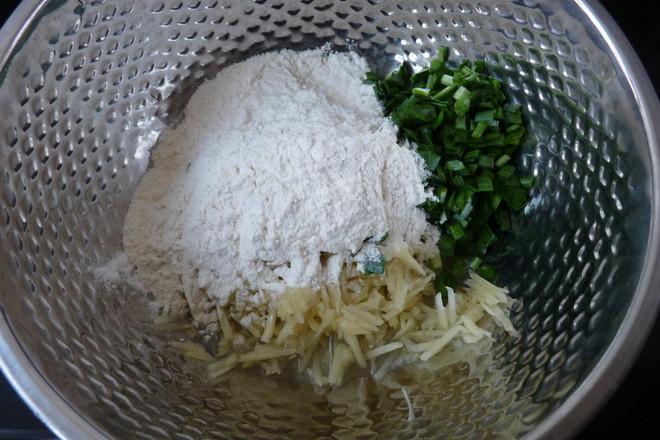 土豆韭菜饼的家常做法