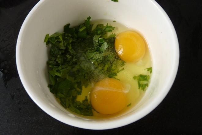 香菜焗蛋的做法图解