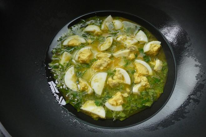 香菜焗蛋的简单做法
