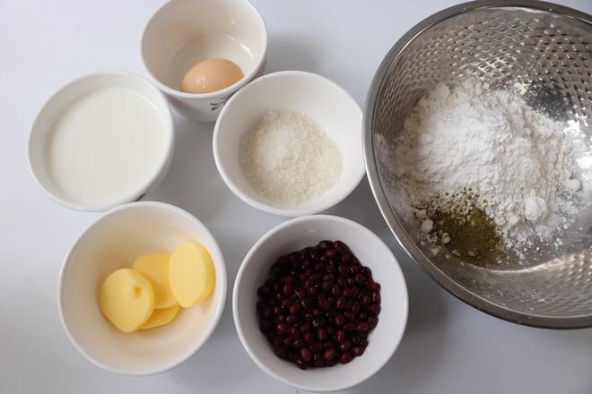 抹茶红豆麻薯包的做法大全