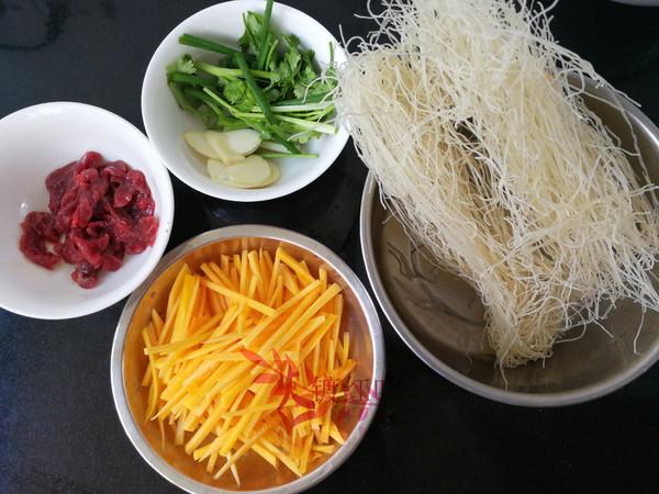 南瓜牛肉炒米粉的做法大全