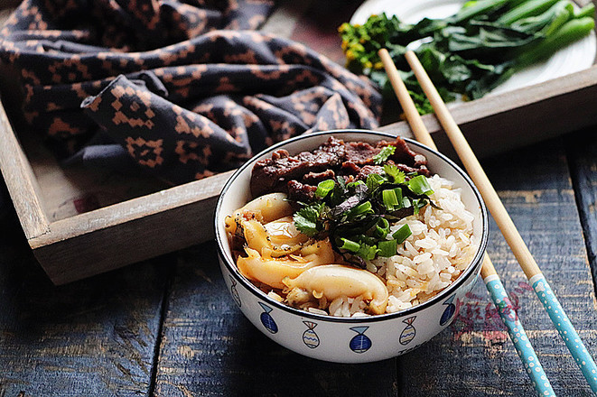 鲜鲍鱼牛肉饭怎么煮