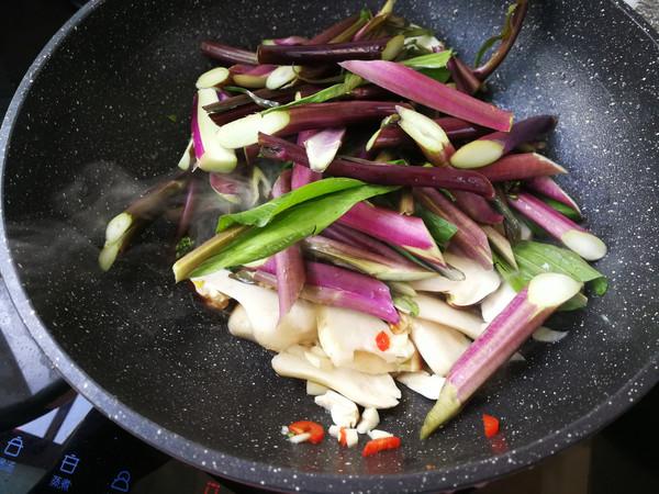 松茸炒红菜苔怎么吃