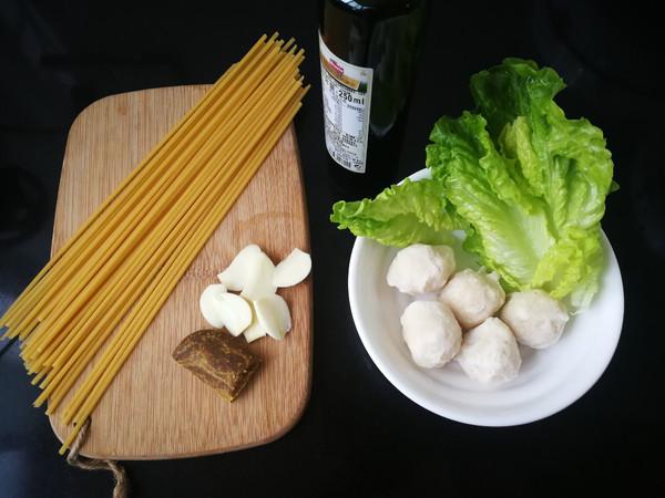 咖喱墨鱼丸拌意大利面的做法大全