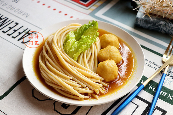 咖喱墨鱼丸拌意大利面怎么煮