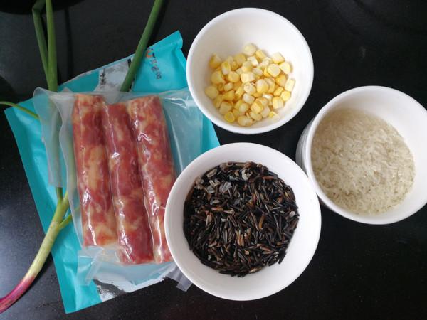 腊肠野米杂粮饭的做法大全