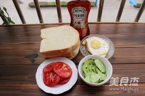 营养早餐三明治的做法图解