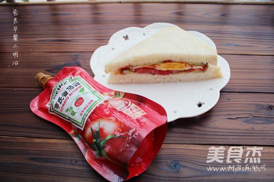营养早餐三明治怎么煸