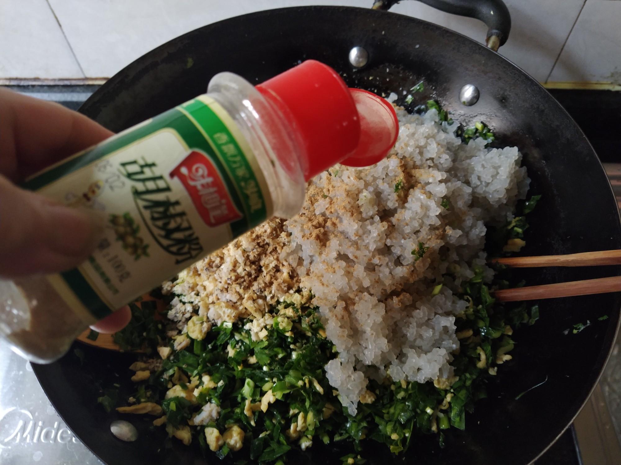 韭菜鸡蛋素饺子的做法图解