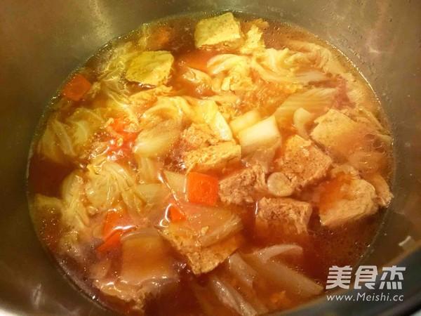 小白菜炖冻豆腐怎么炒