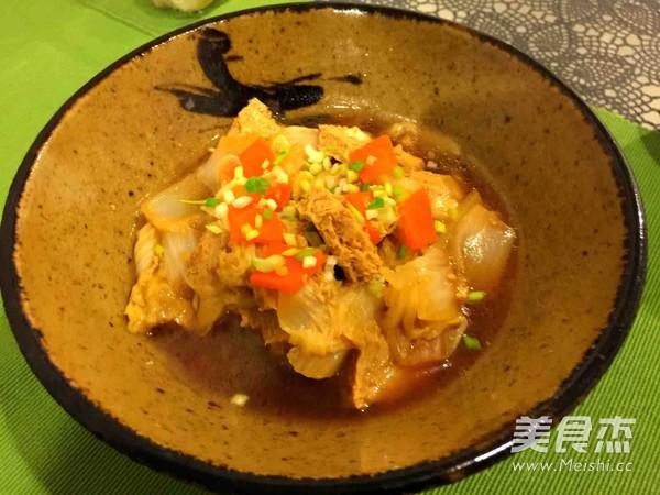 小白菜炖冻豆腐怎么煮