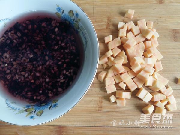 杂粮红薯米糊的家常做法
