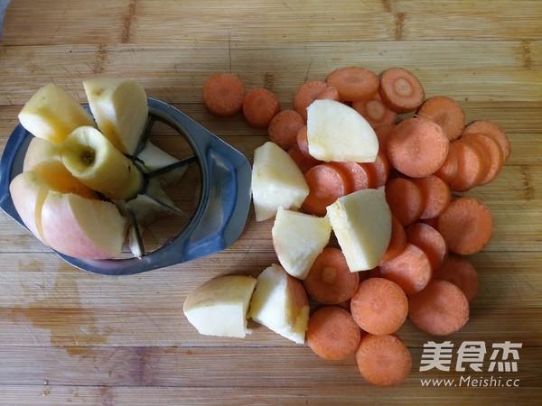 胡萝卜苹果汁的步骤