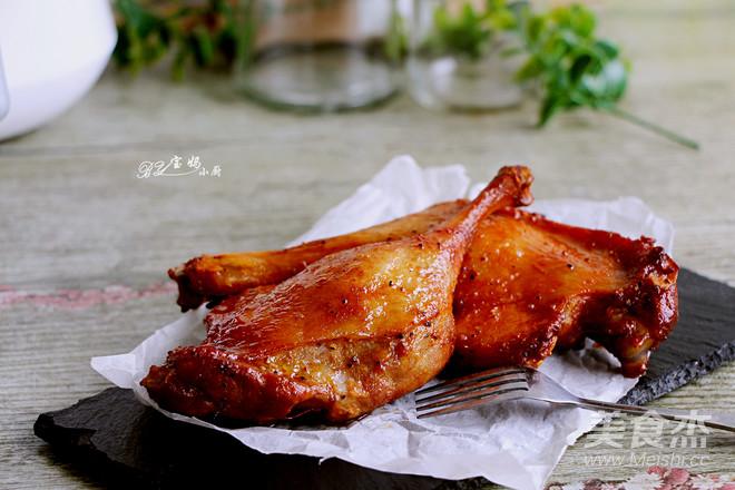 蜜汁黑椒烤鸭腿怎么炒