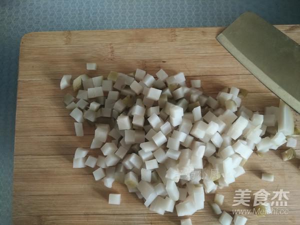 肉丁炒水疙瘩的做法图解
