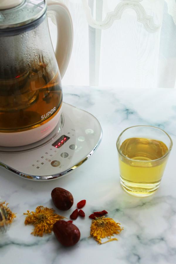 红枣枸杞菊花茶成品图