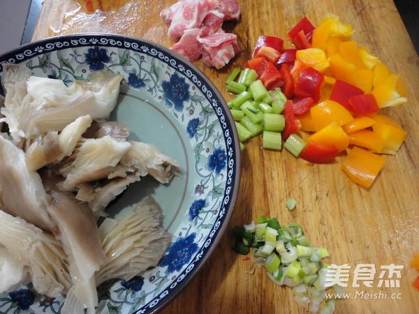 彩椒蘑菇炒肉的做法图解