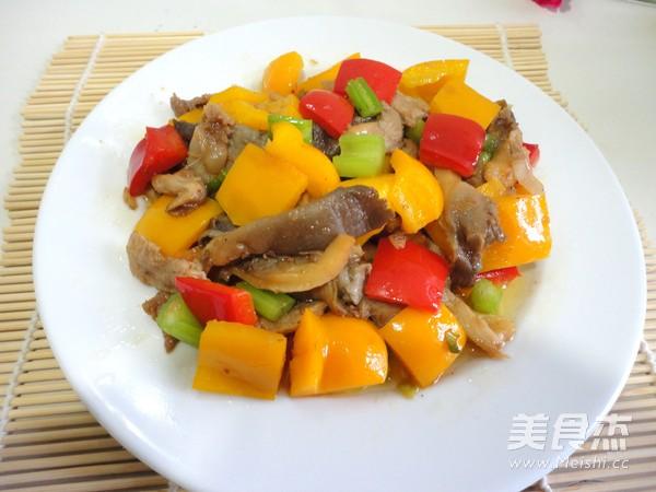 彩椒蘑菇炒肉怎么煮