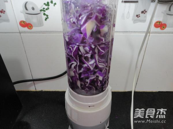 紫甘蓝汁豆沙葡萄的家常做法