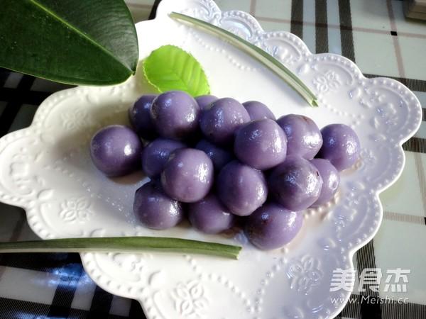 紫甘蓝汁豆沙葡萄怎样做