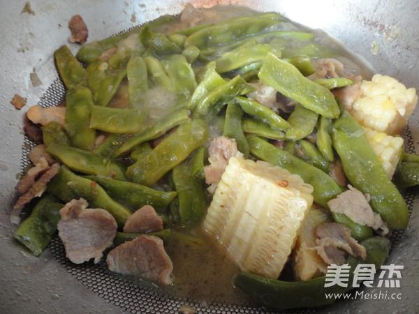 豆角炖玉米怎样做