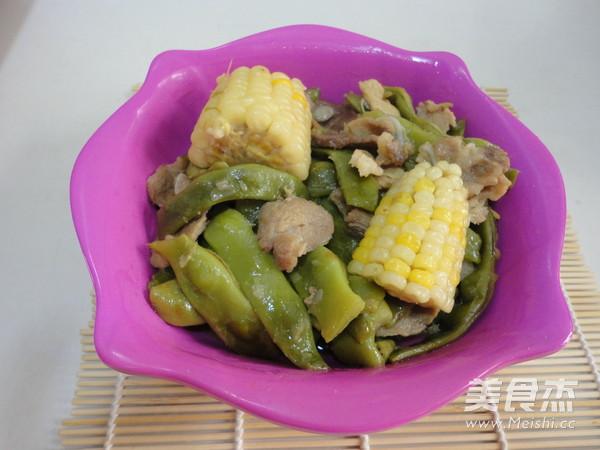 豆角炖玉米怎样炒