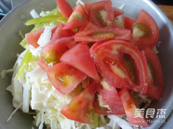 包菜炒西红柿的做法图解