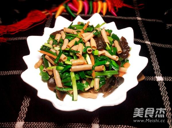 韭菜炒海肠怎么炖
