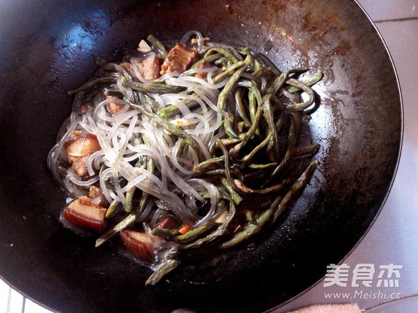 红烧肉炖干豆角怎么炒
