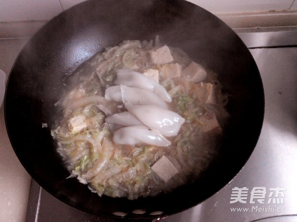 白菜海鲜冻豆腐怎么煸