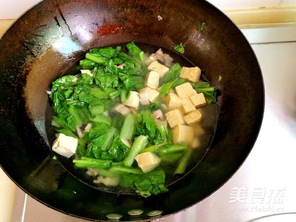 小白菜冻豆腐汤怎么炒