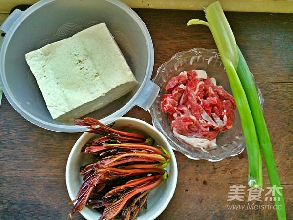 香椿牛肉豆腐的做法大全