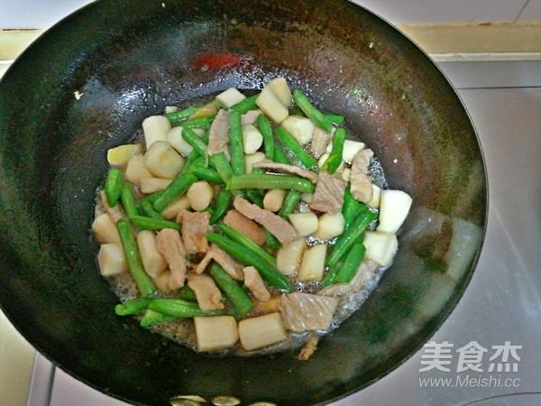 豆角山药炒肉怎么煮