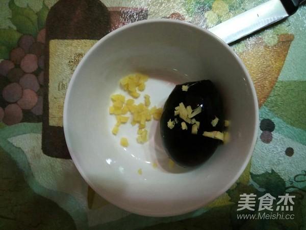 姜末松花蒸蛋的做法图解