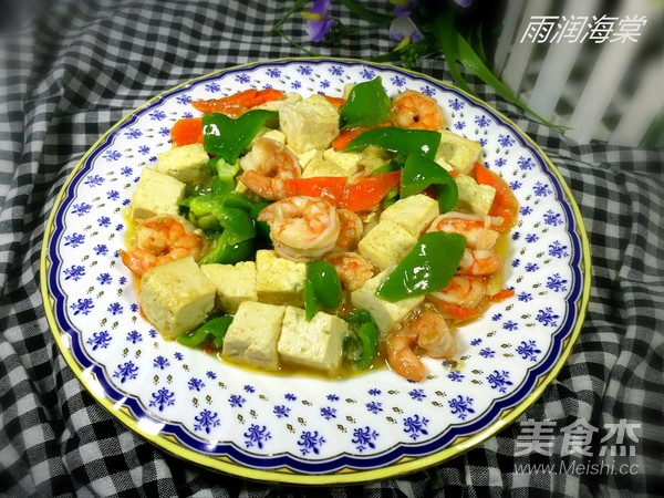虾仁滑炒豆腐成品图