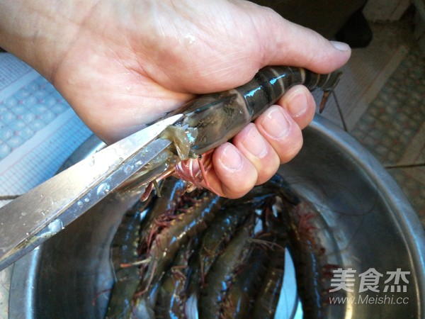 欧芹竹节虾的做法图解