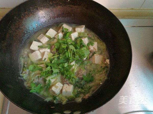 牛肉白菜豆腐汤怎么炖