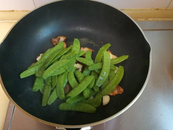 荷兰豆炒腊肉的简单做法