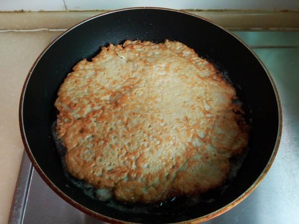 莲藕虾仁鸡蛋饼的制作方法