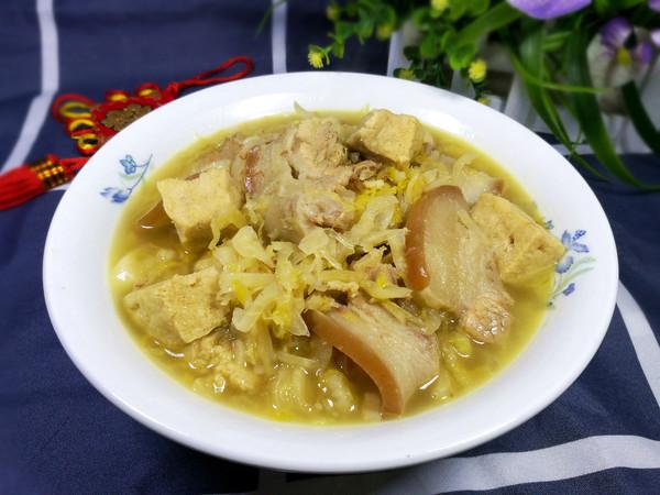 酸菜冻豆腐汤怎么煸