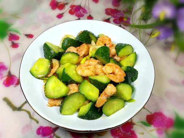黄瓜炒虾仁怎么煮