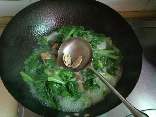 小白菜文蛤汤怎么炖