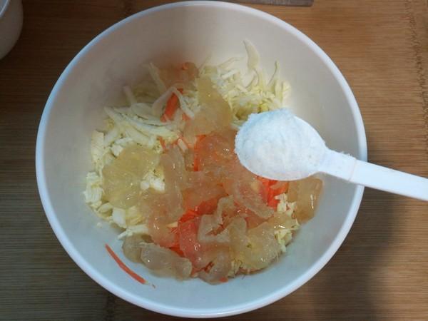 白菜拌海蜇头的步骤