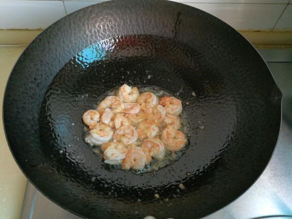 小白菜炒虾仁的简单做法