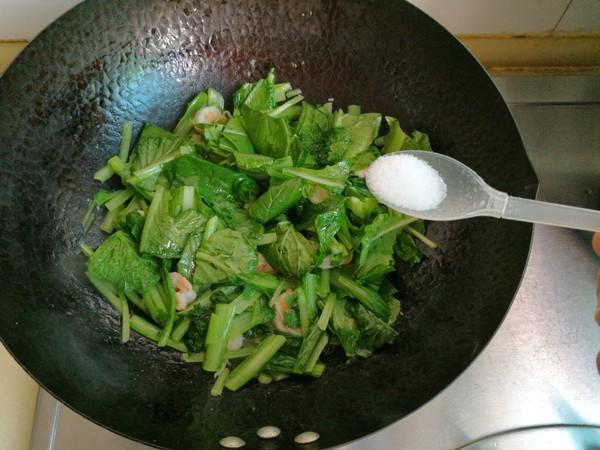 小白菜炒虾仁怎么做