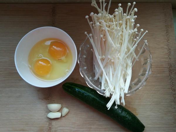 黄瓜金针菇拌蛋丝的做法大全